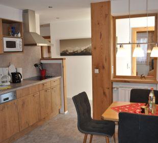 Küche mit Essecke WG 5 Gästehaus Schwemmbauer