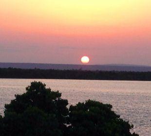 Sonnenuntergang vom Zimmer aus Temple Point Resort