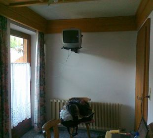 Fernsehecke mit Balkontür Hotel Klausenhof