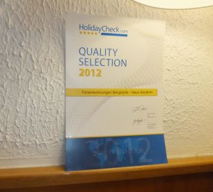 Quality Selection 2012 Bergidylle Harz - Suites