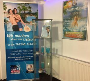 Verkauf der Therme im Hotel  Best Western Hotel München-Airport