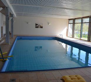 Pool mit Blick auf den See Seehotel Gut Dürnhof