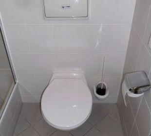 Toilettenteil im Bad Globana Airport Hotel