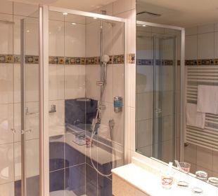 Blick ins Badezimmer Ringhotel Krone Schnetzenhausen