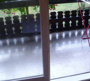 Der Balkon vom Komfortzimmer 202 Hotel Trattlerhof