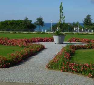 Garten vor dem Hotel Morada Strandhotel Ostseebad Kühlungsborn