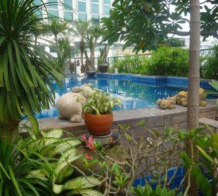 Auf dem Dach im 9ten Stock Hotel Siam Heritage