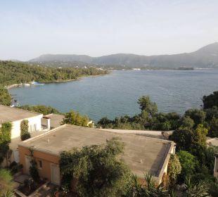 Blick aufs Meer vom Balkon Hotel Grecotel Eva Palace