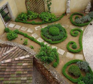 Zimmerblick in den Garten Hotel Colosseo Europa-Park