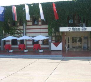 Weg zur Rezeption Club Aldiana Side (Vorgänger-Hotel – existiert nicht mehr)