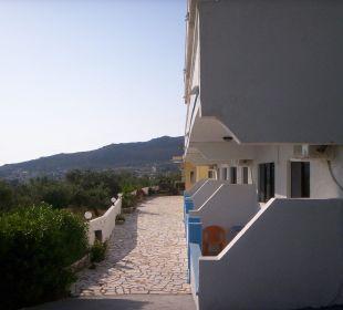 Terrassen von Apartments Hotel Karavos
