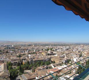 Ausblick von Terrasse Nachmittag Hotel Alhambra Palace