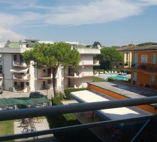 Ausblick vom Balkon Hotel Eraclea Palace
