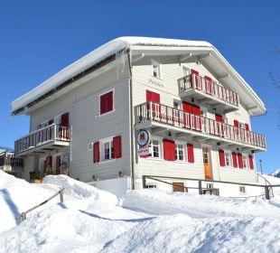 Pension Alpina im Winter Gasthaus Alpina