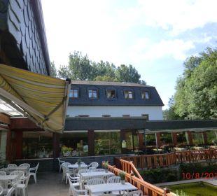 Terrasse und Cafe Heidsmühle Hotel Heidsmühle