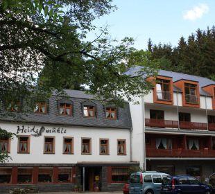 Blick vom Bach aus Hotel Heidsmühle