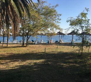 Blick von der Terrasse Hotel Possidona Beach