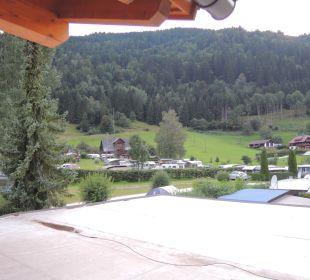 Aussicht vom Balkon Campingplatz Hotel Fischerhof Glinzner