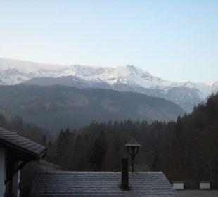 Ausblick vom Balkon Forsthaus Graseck (Vorgänger-Hotel – existiert nicht mehr)