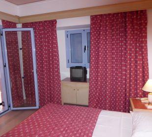 Blick zum Balkon Hotel Mitsis Rhodos Village & Bungalow