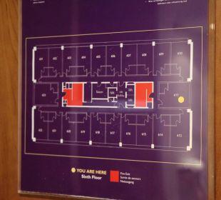 Aufteilung Stockwerk Hotel Premier Inn London Wembley Stadium