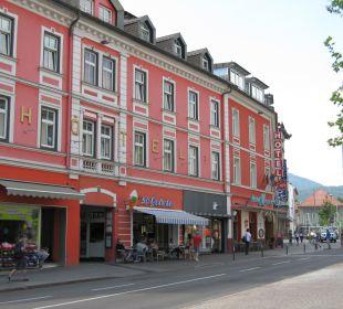Vista dalla strada Hotel Mosser