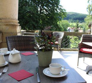 Frühstücksterrasse Schlosshotel Stecklenberg