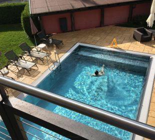 Pool von unserem Zimmer aus Das Hotel Eden