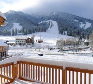 Blick auf das Skigebiet Hohentauern Chalet Triebenstein