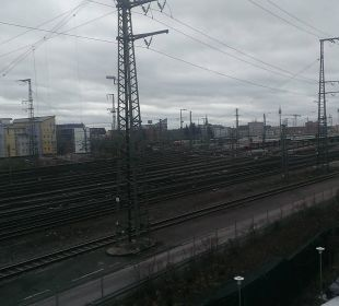 Bahngleise nach Osten Motel One Nürnberg-City