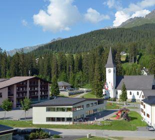 Aussicht vom Balkon Sunstar Alpine Hotel Lenzerheide