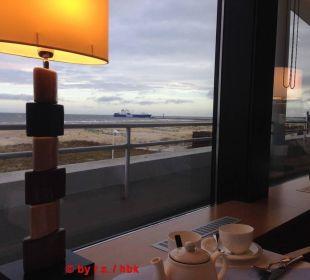 Ausblick beim Frühstück Hotel Neptun