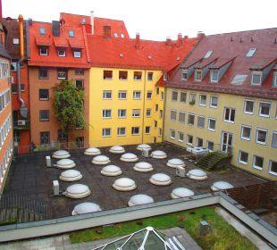 Innenhof SORAT Hotel Saxx Nürnberg