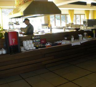 Kleine Küche für Morgenbuffet Hotel Royal Heights Resort