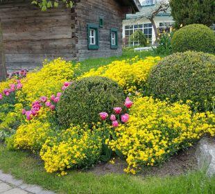 Garten mit wunderschönen Blumen Alpenresort Schwarz