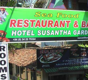 Schild - Restaurant Hotel Susantha Garden