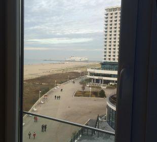 Blick aus Zimmer 607 a-ja Warnemünde. Das Resort.