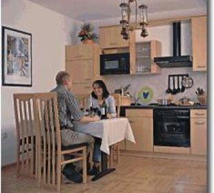 Wohnküche Ferienwohnungen & Pension Domicil am Stadtpark