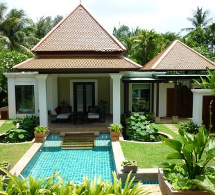 Blick auf die Spa Pool Villa Hotel Banyan Tree Phuket