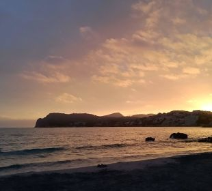 Sonnenuntergang am Strand Universal Hotel Lido Park