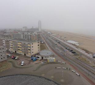 Ausblick vom Zimmer (leider Nebel) Center Parcs Park Zandvoort Strandhotel