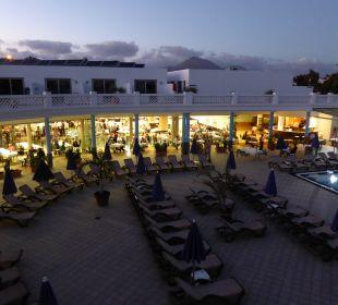 Blick auf das Restaurant Hotel Las Costas