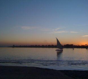 Nilausblick am Abend Achti Resort Luxor