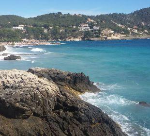 Das Hotel hinten links Olimarotel Gran Camp de Mar