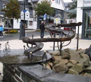 Brunnen auf dem Marktplatz Hapimag Resort Winterberg