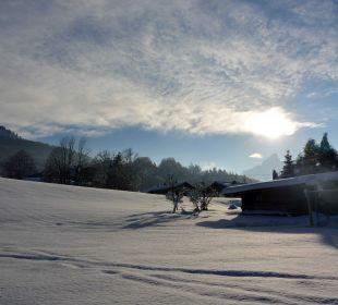 Ausblick vom Alpenglühn Winter 3 Apartments Ferienparadies Alpenglühn