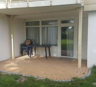 Terrassenbeispiel Apartments Ferienpark Weissenhäuser Strand