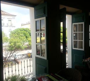 Ausblick aus dem Frühstücksraum Hotel Bahiacafé