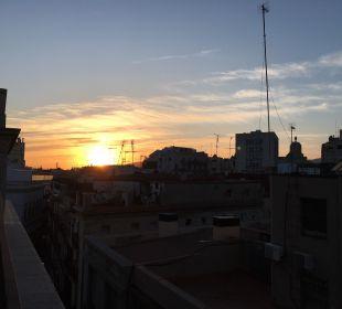 Ausblick vom Balkon des Zimmers NH Barcelona Centro