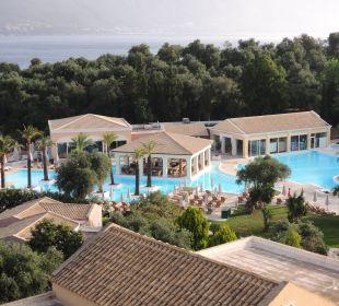 Vom Balkon aus gesehen Hotel Grecotel Eva Palace